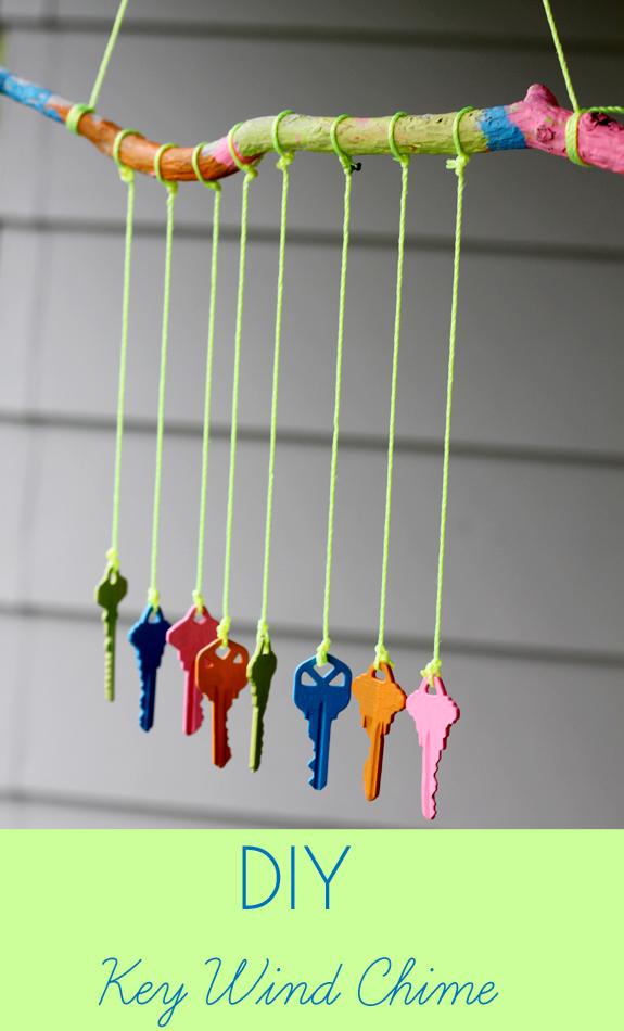 Recycled crafts for kids diy key wind chime inner child for Easy wind chimes