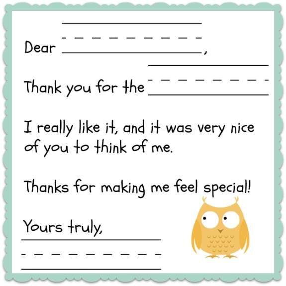Thank You Note Template for Kids  Free    Inner Child Giving q3BDfl8U